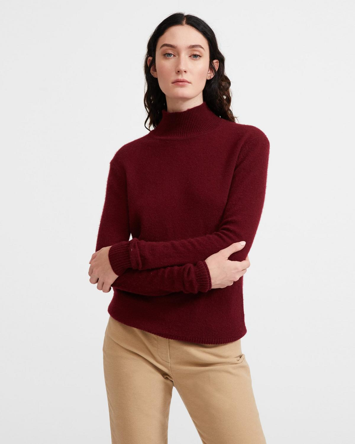 Feather Cashmere Basic Turtleneck Sweater
