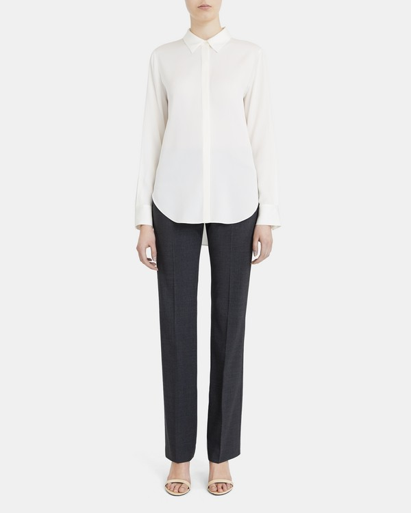 Sunaya Shirt In Stretch Silk