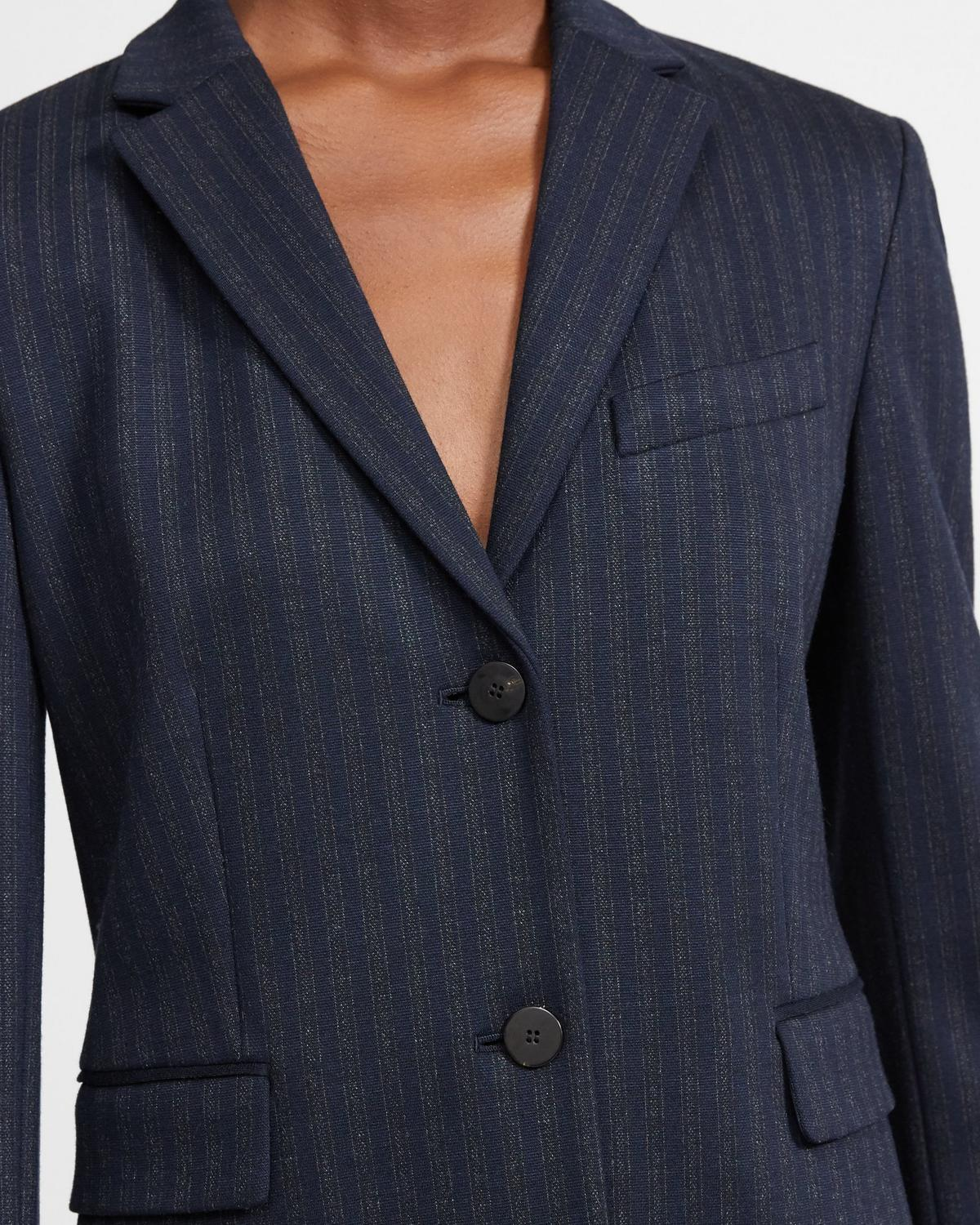 Striped Knit Shrunken Blazer