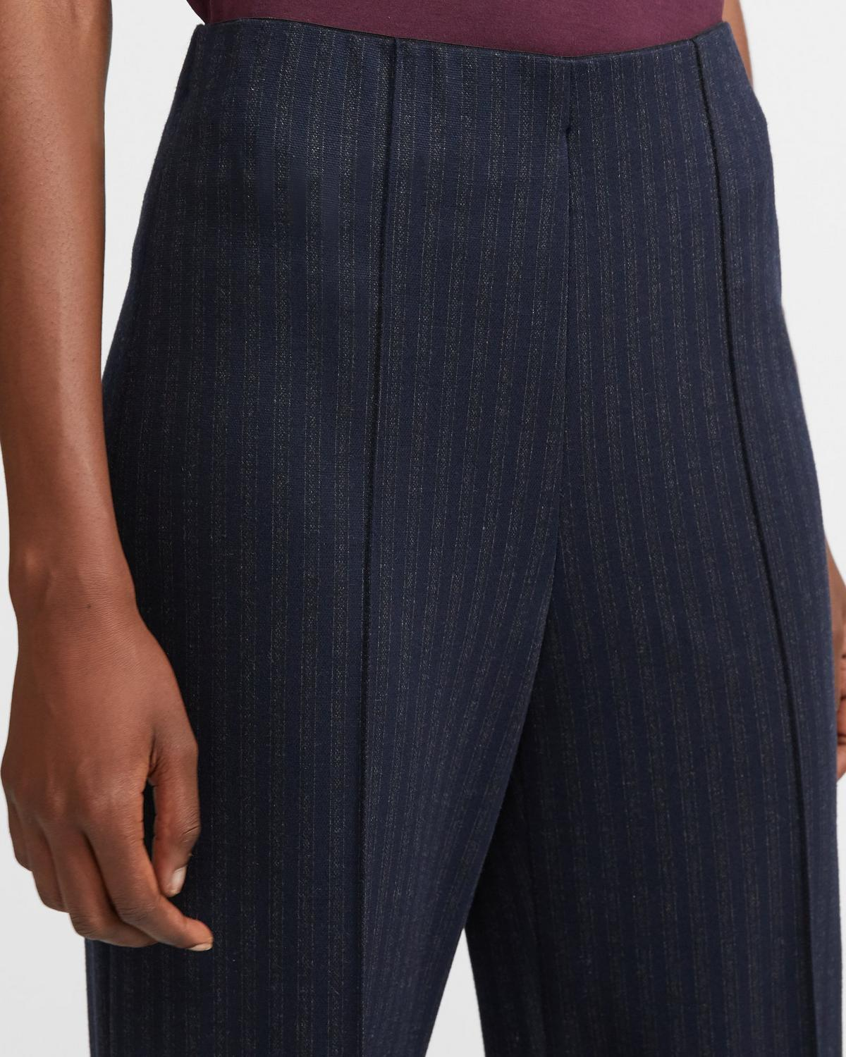 Wide Leg Pant in Striped Knit