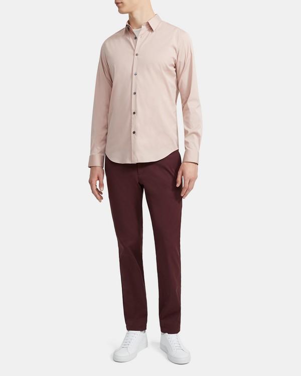 띠어리 맨 셔츠 Theory Sylvain Shirt in Good Cotton,QUARTZ