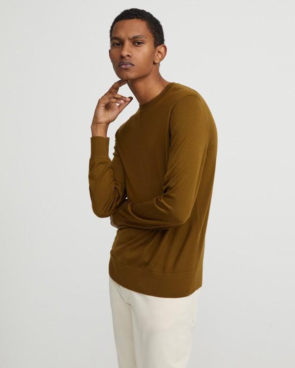 띠어리 맨 스웨터 Theory Crewneck Sweater in Regal Wool,TAMARIND