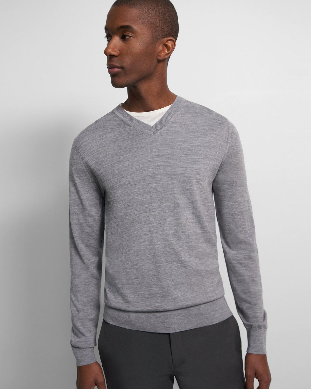 V-Neck Sweater in Regal Wool