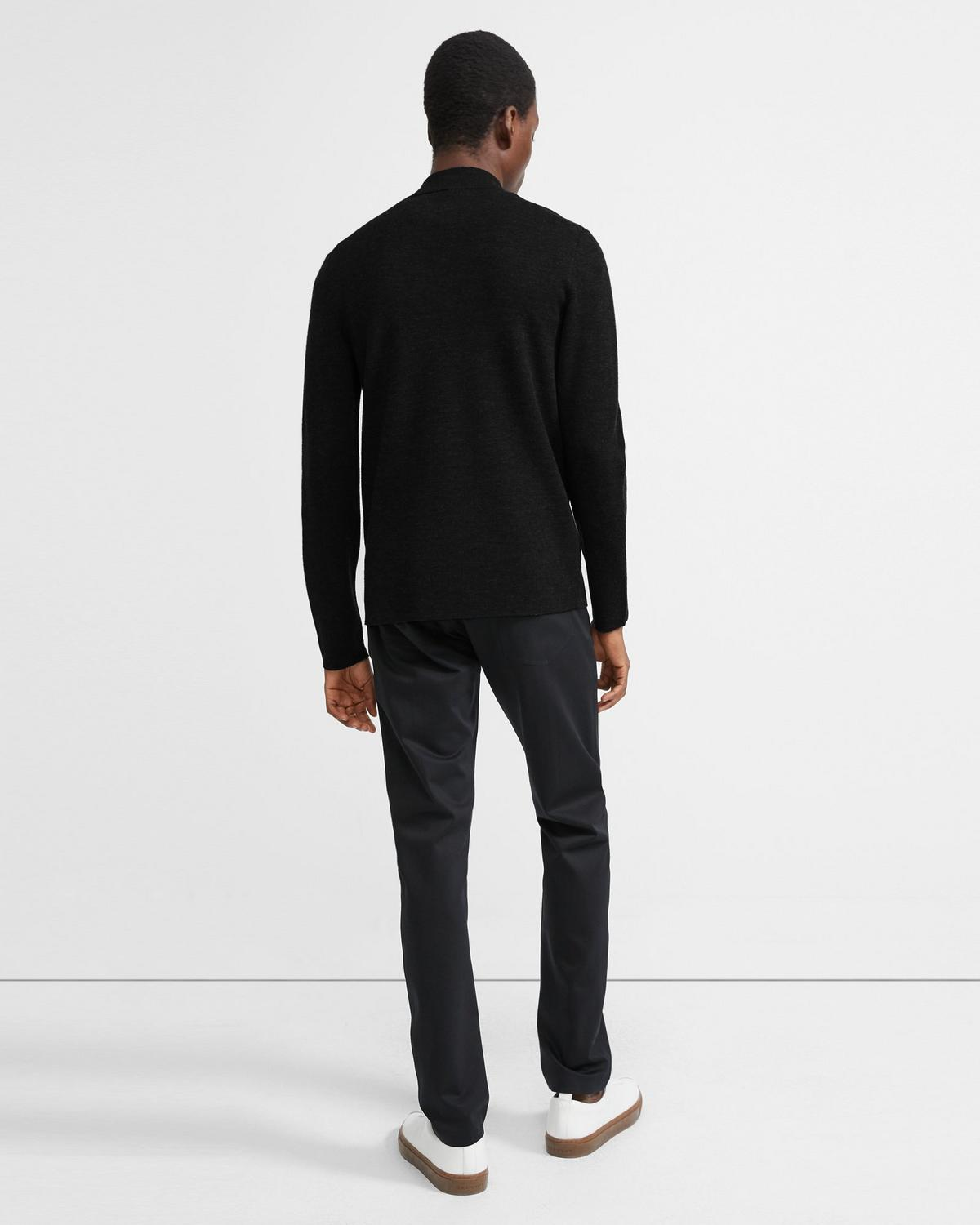 Merino Wool Mock Half Zip Sweater