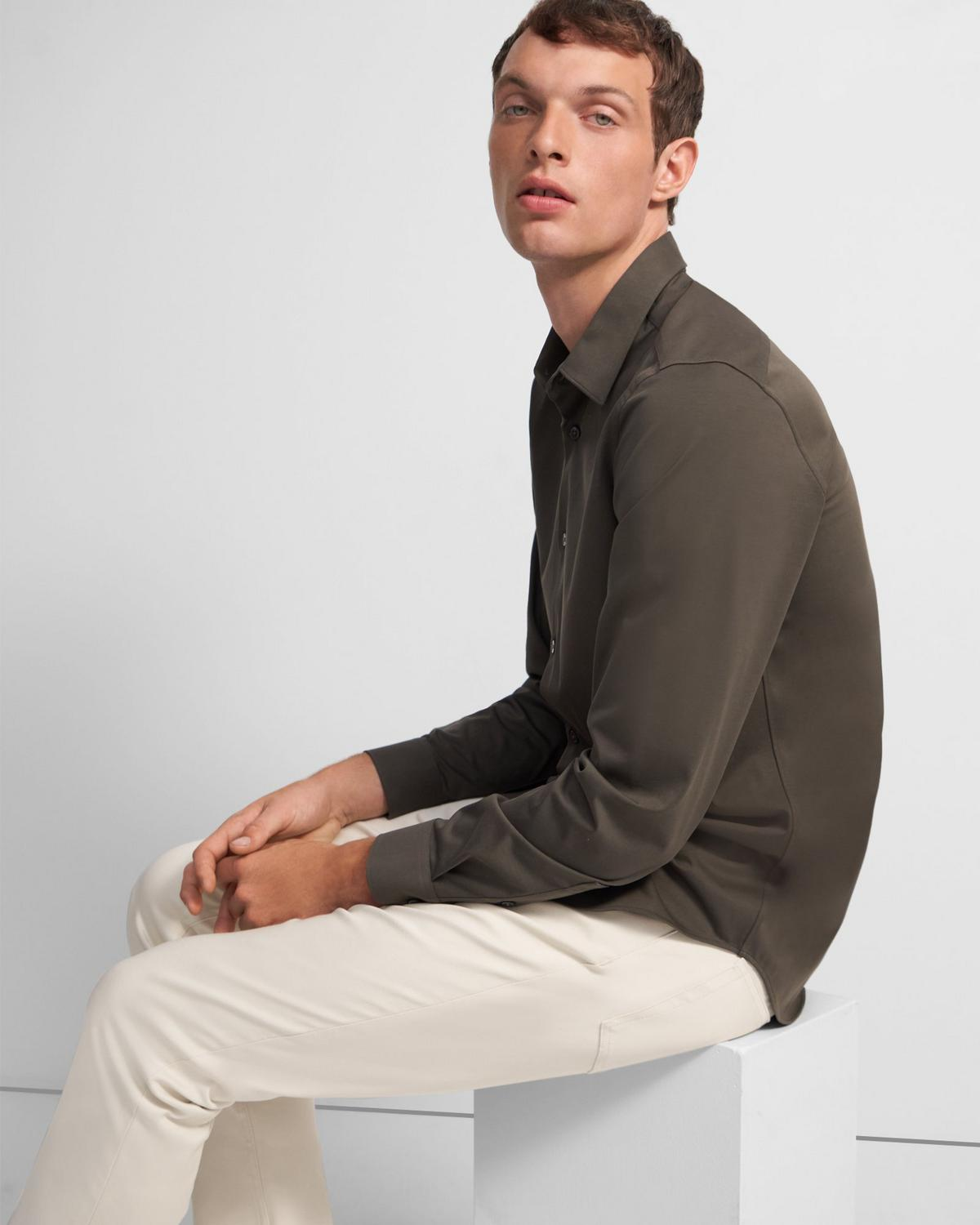 Sylvain Shirt in Structure Knit