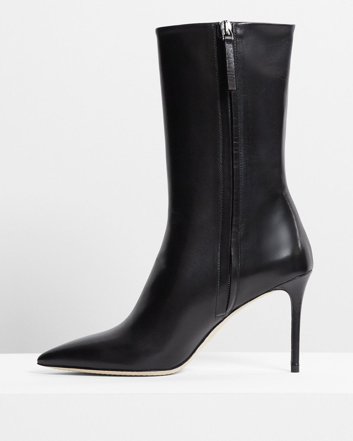 Midi Bootie in Leather