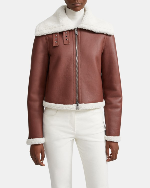 Moto Jacket in Shearling