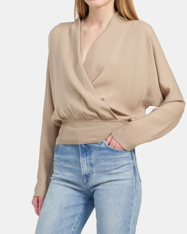 Long-Sleeve Top in Silk