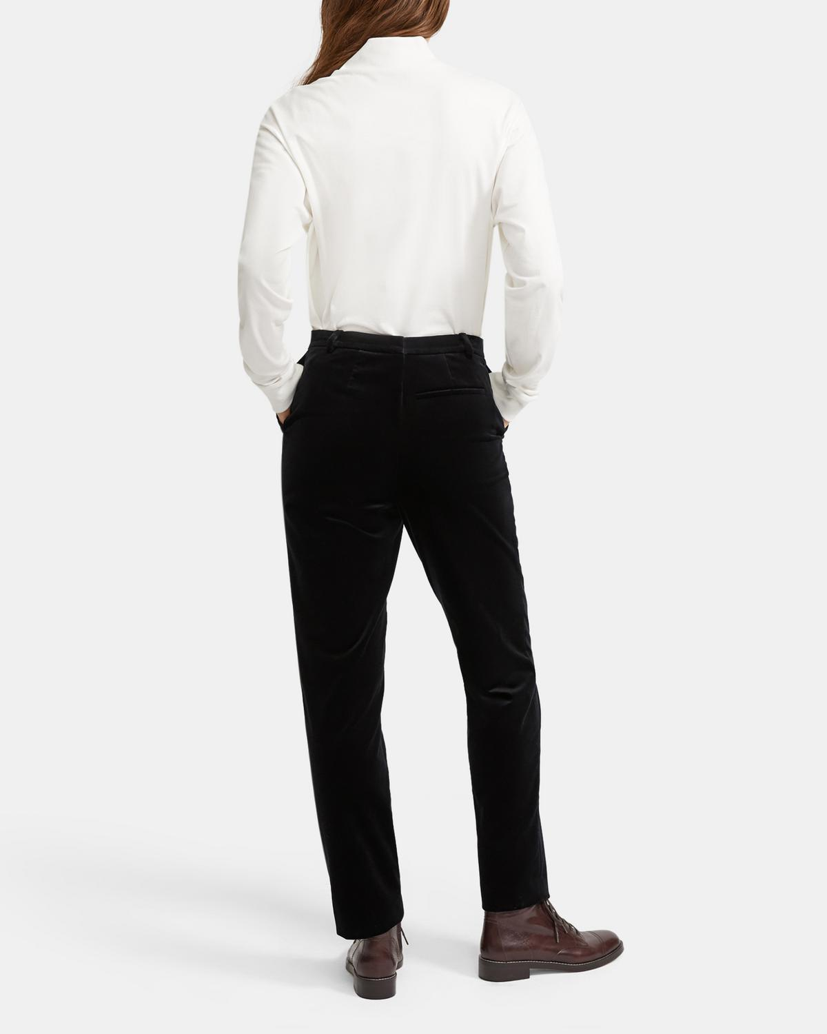 Stretch Velvet Tailored Trouser