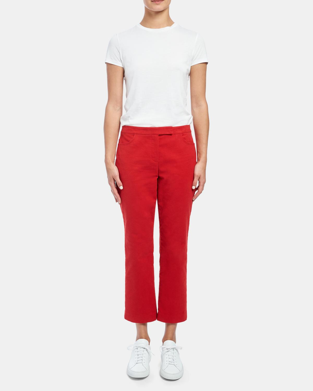 Cropped Pant in Moleskin Twill