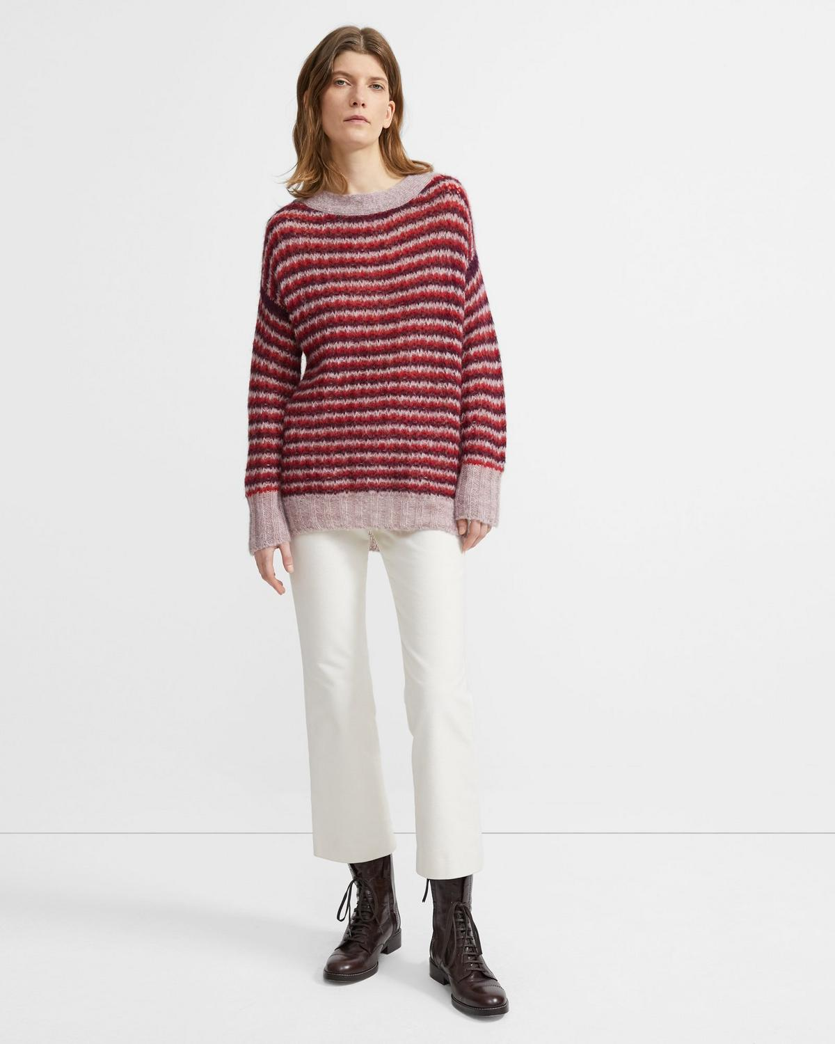 Alpaca Striped Pullover 0 - click to view larger image
