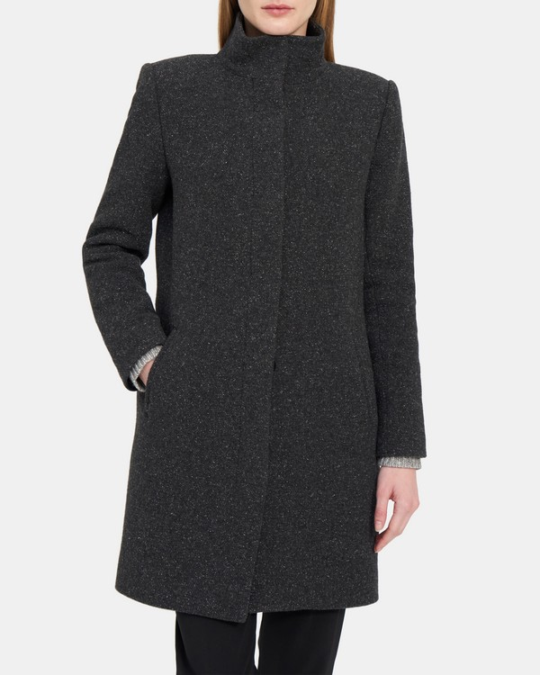 Layti Coat in Peppered Wool