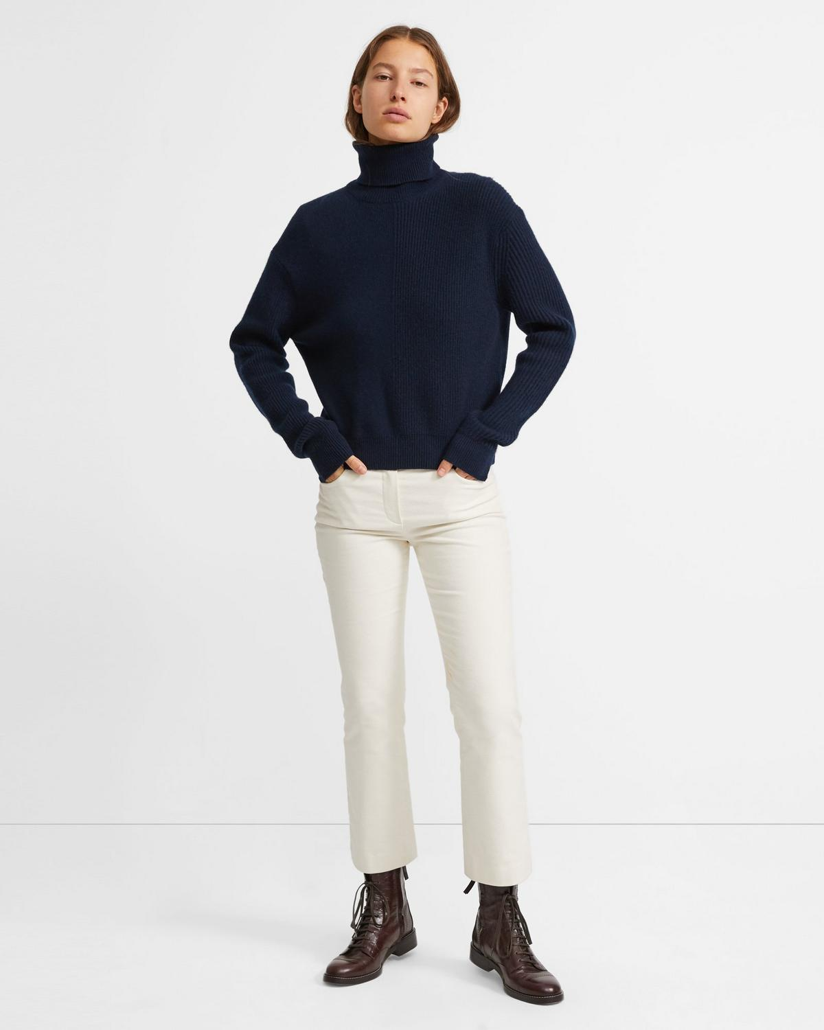 Cashmere Solid Turtleneck Sweater