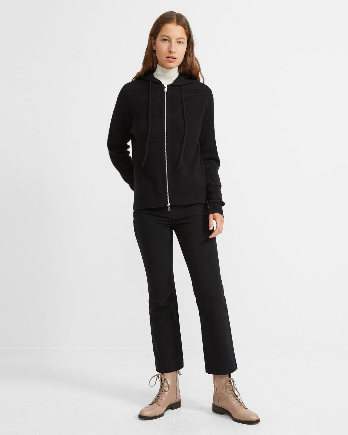 Cashmere Zip Hoodie 0 - click to view larger image