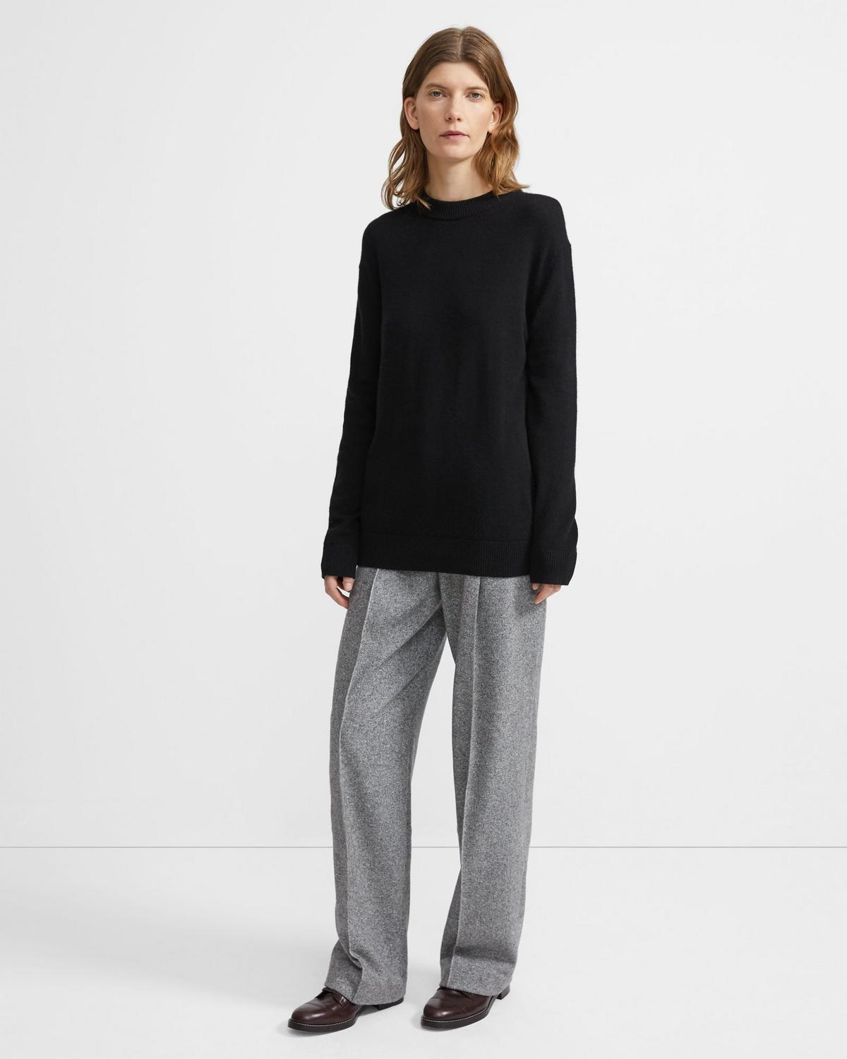 Cashmere Solid Crewneck Sweater
