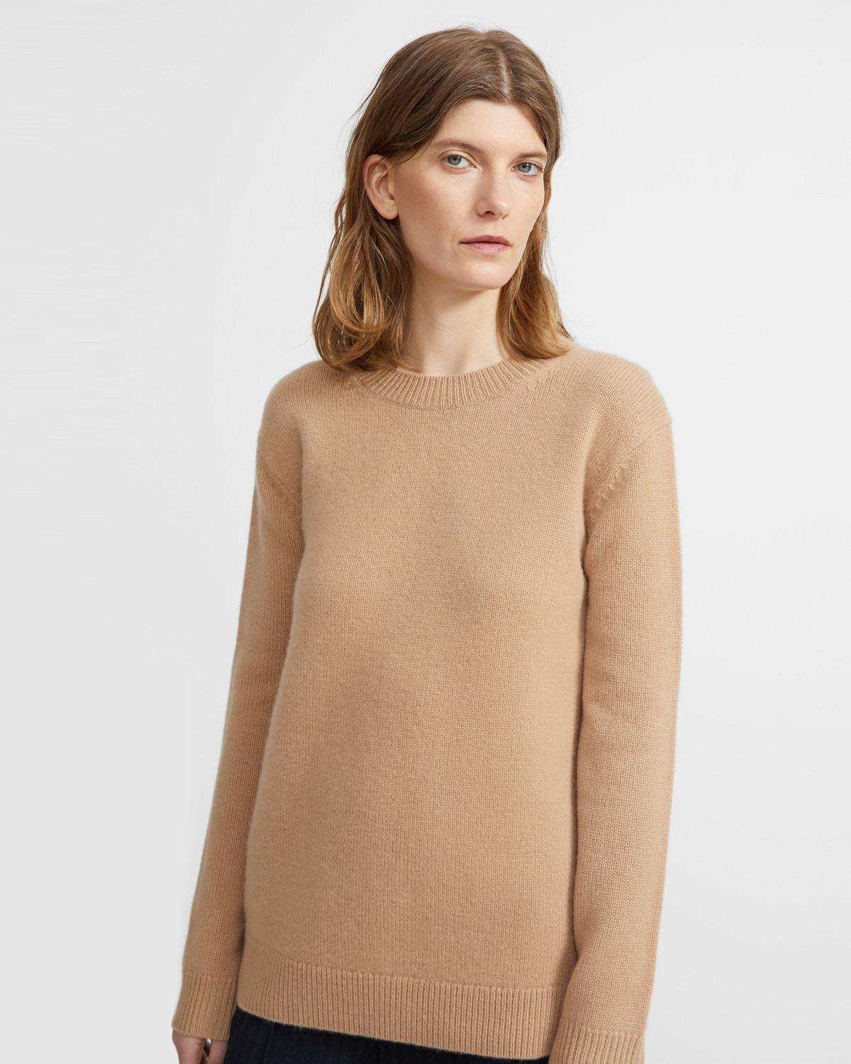 Relaxed Crewneck Sweater in Cashmere