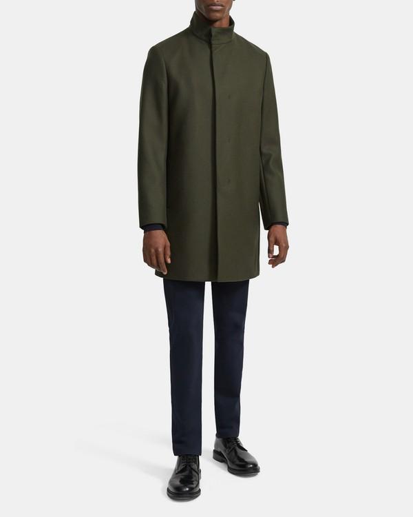띠어리 맨 코트 Theory Belvin Coat in Traceable Wool Melton,KOMBU GREEN