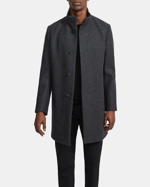 띠어리 맨 코트 Theory Belvin Coat in Recycled Wool Melton,CHARCOAL MELANGE