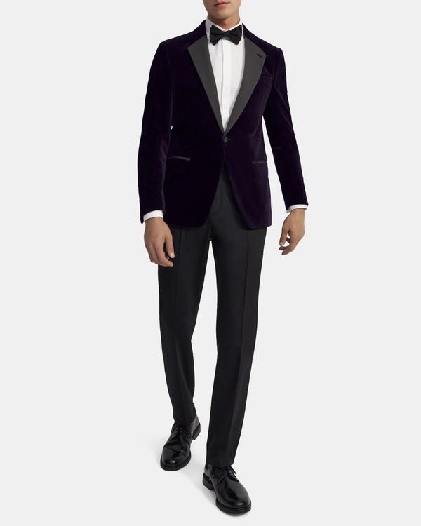 Theory Chambers Tuxedo Blazer in Velvet