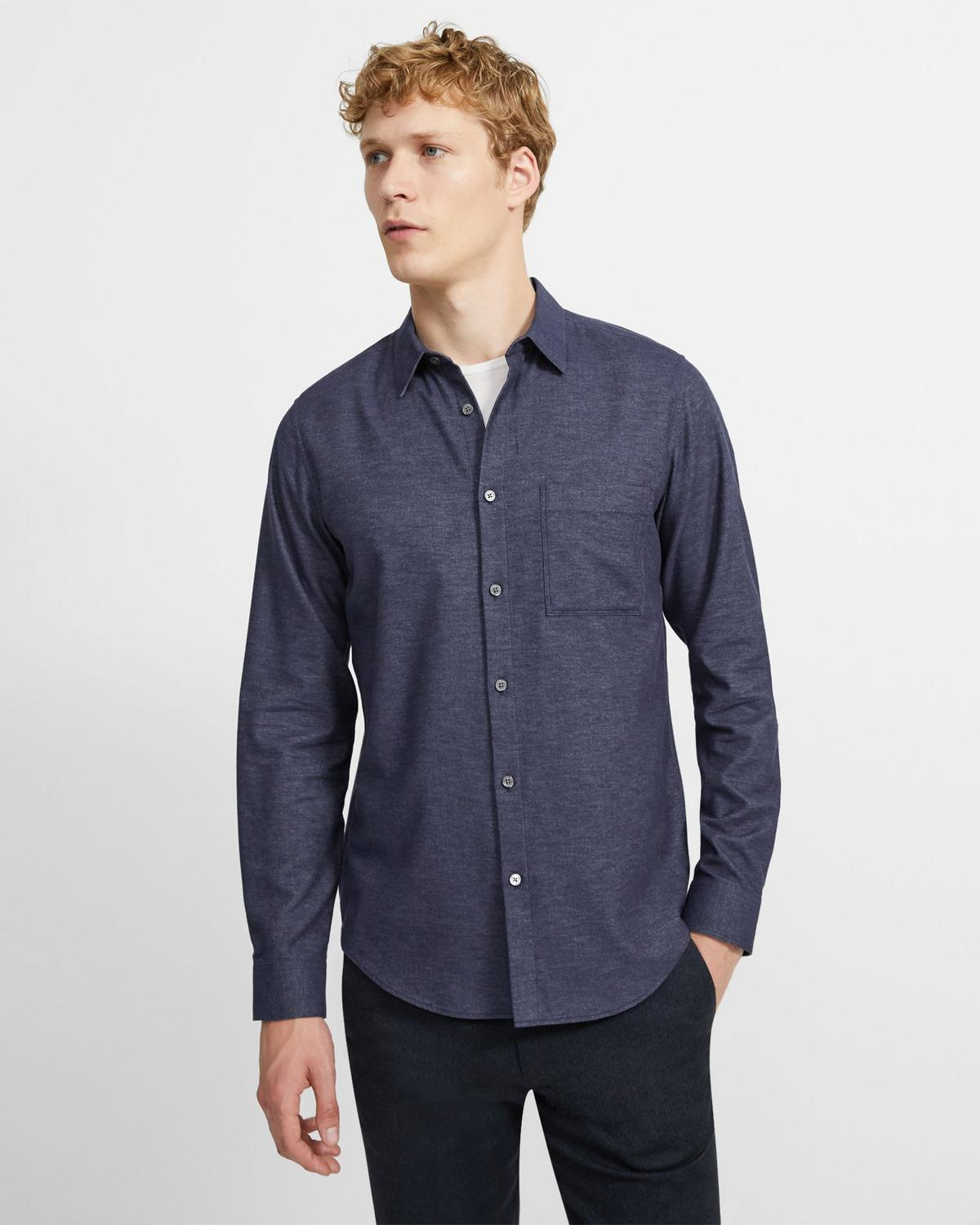 Irving Shirt in Cotton Sateen