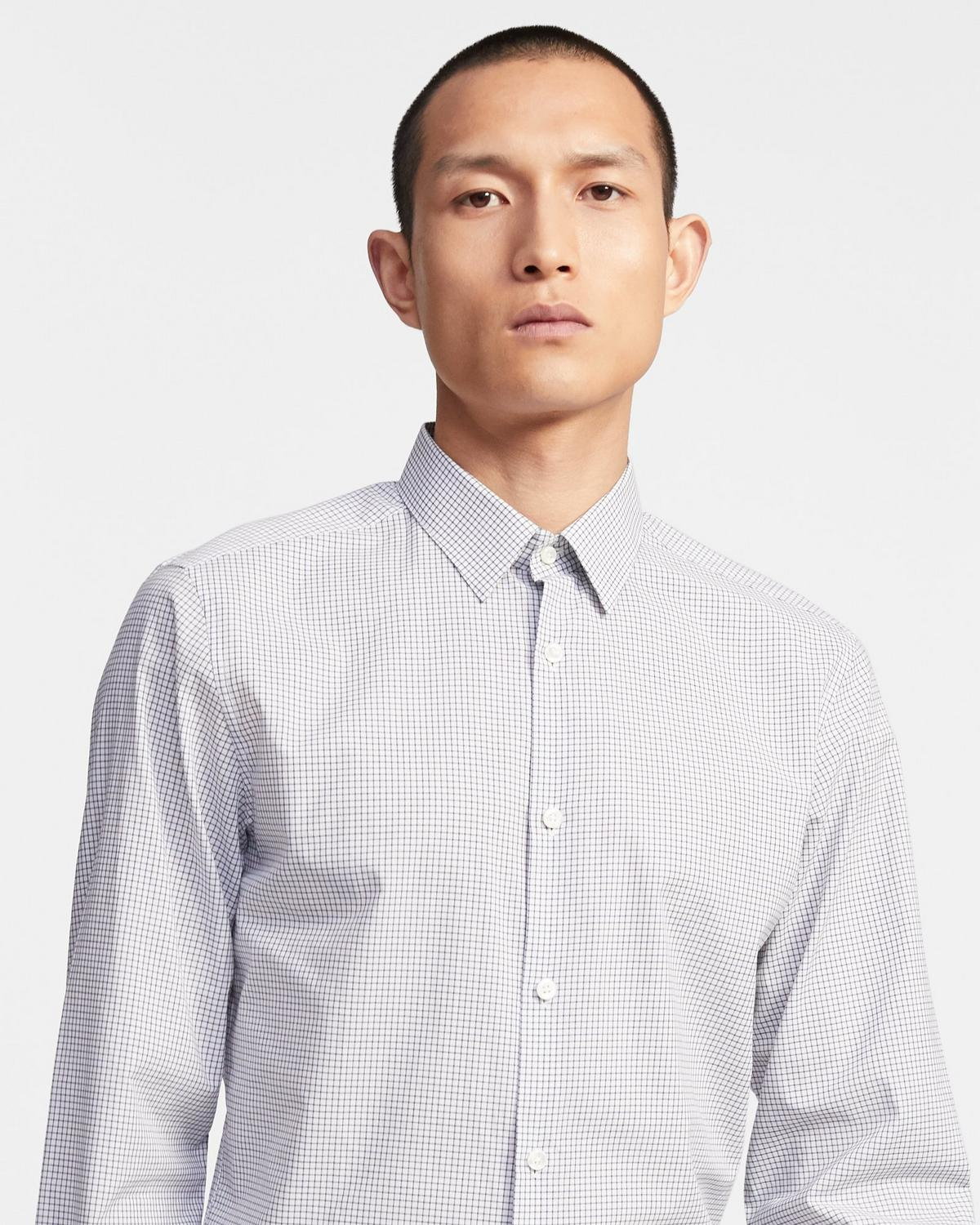 Cedrick Shirt in Grid Poplin