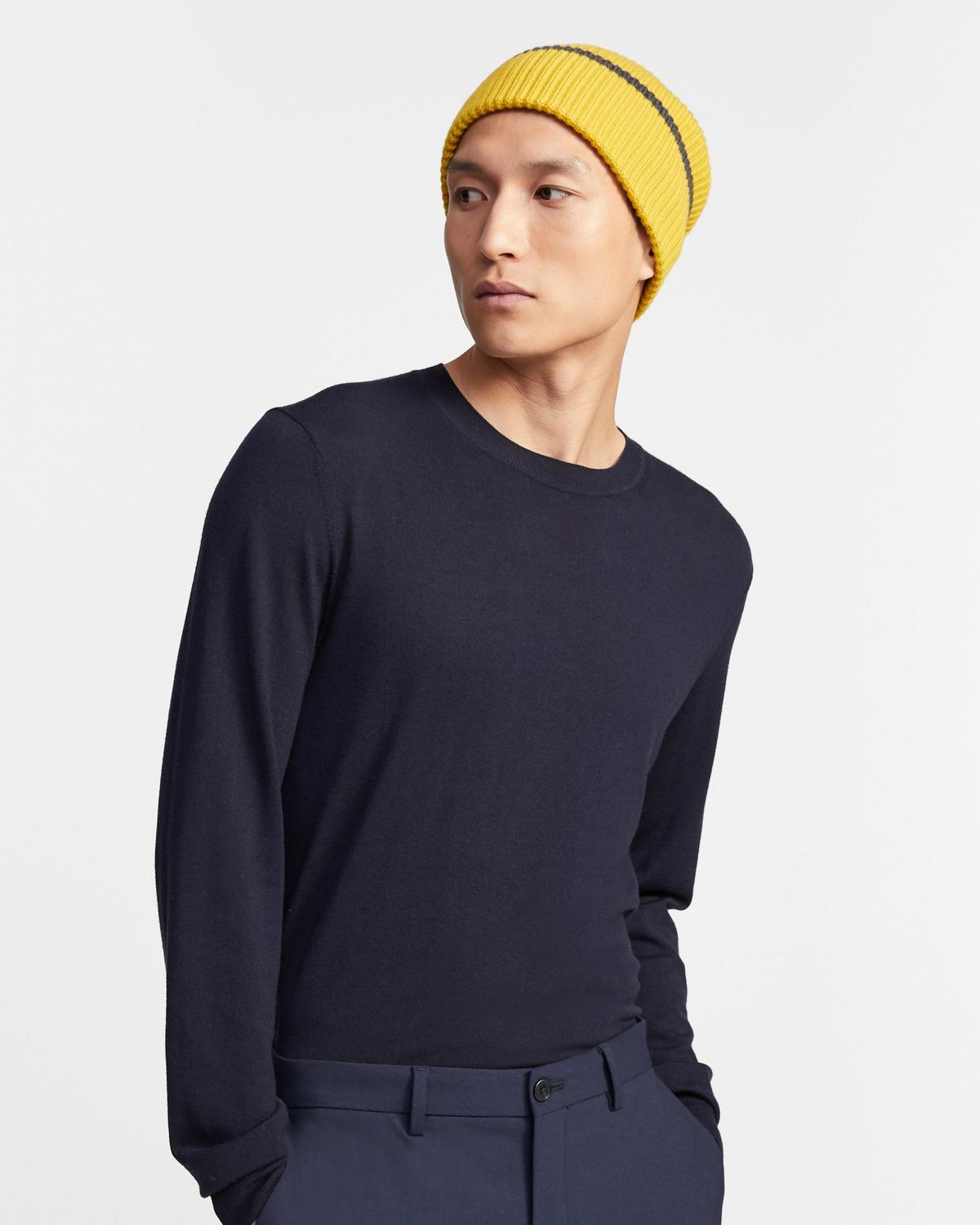Tipped Beanie in Merino Wool