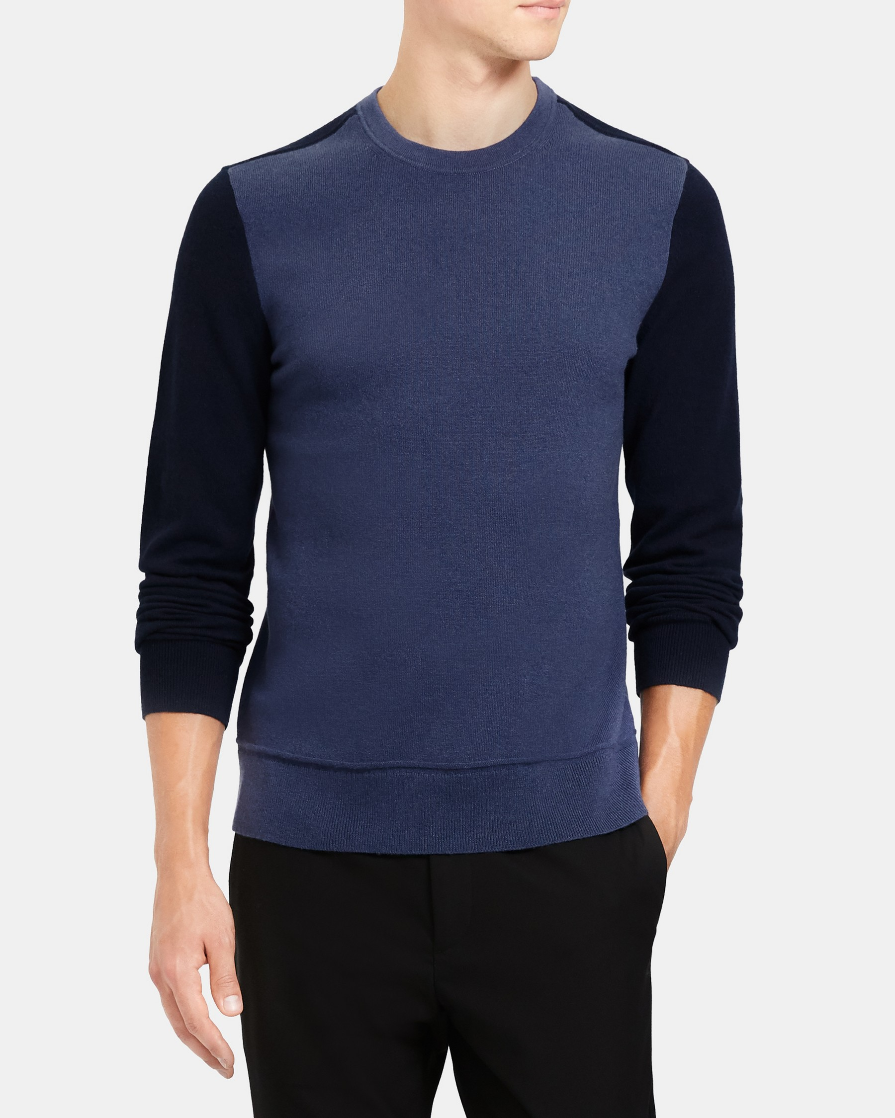 Theory Color-Blocked Sweater in Cashmere