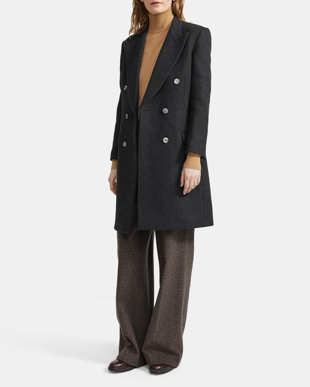 Heavy Wool Twill Tailored Coat