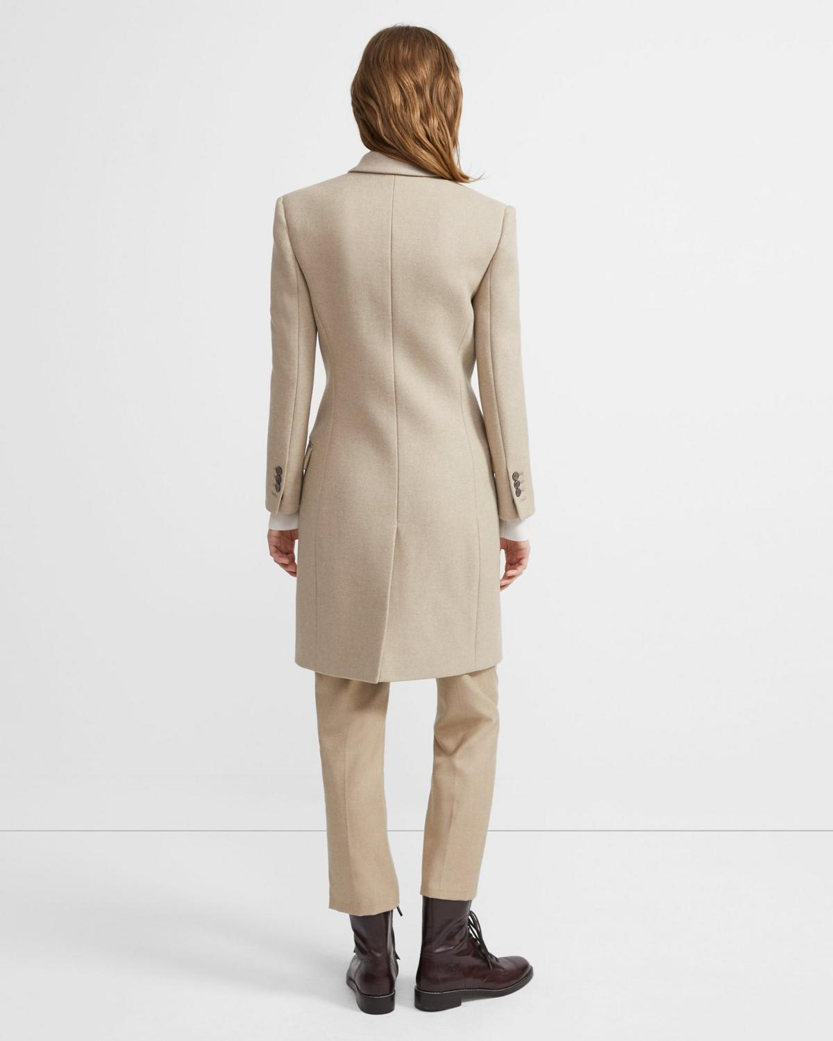 Tailored Coat in Wool Twill