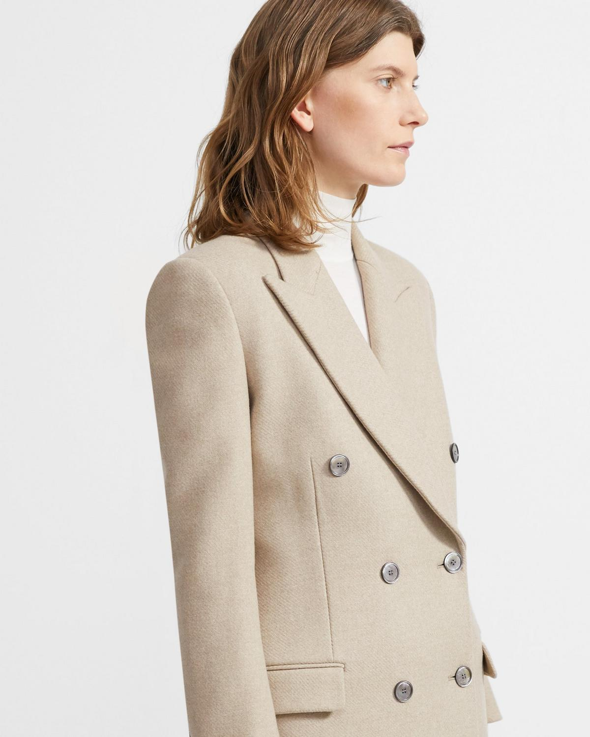 Heavy Wool Twill Tailored Coat 0 - click to view larger image