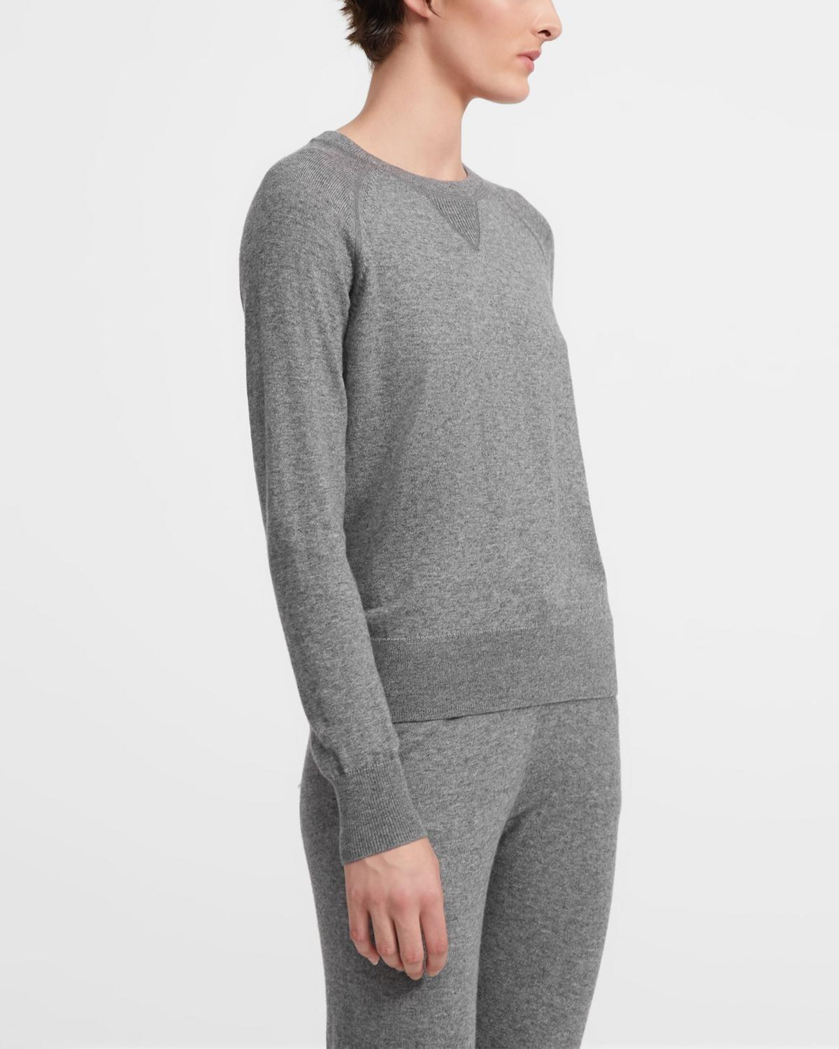 Merino Wool Jersey Easy Crewneck Sweater 0 - click to view larger image