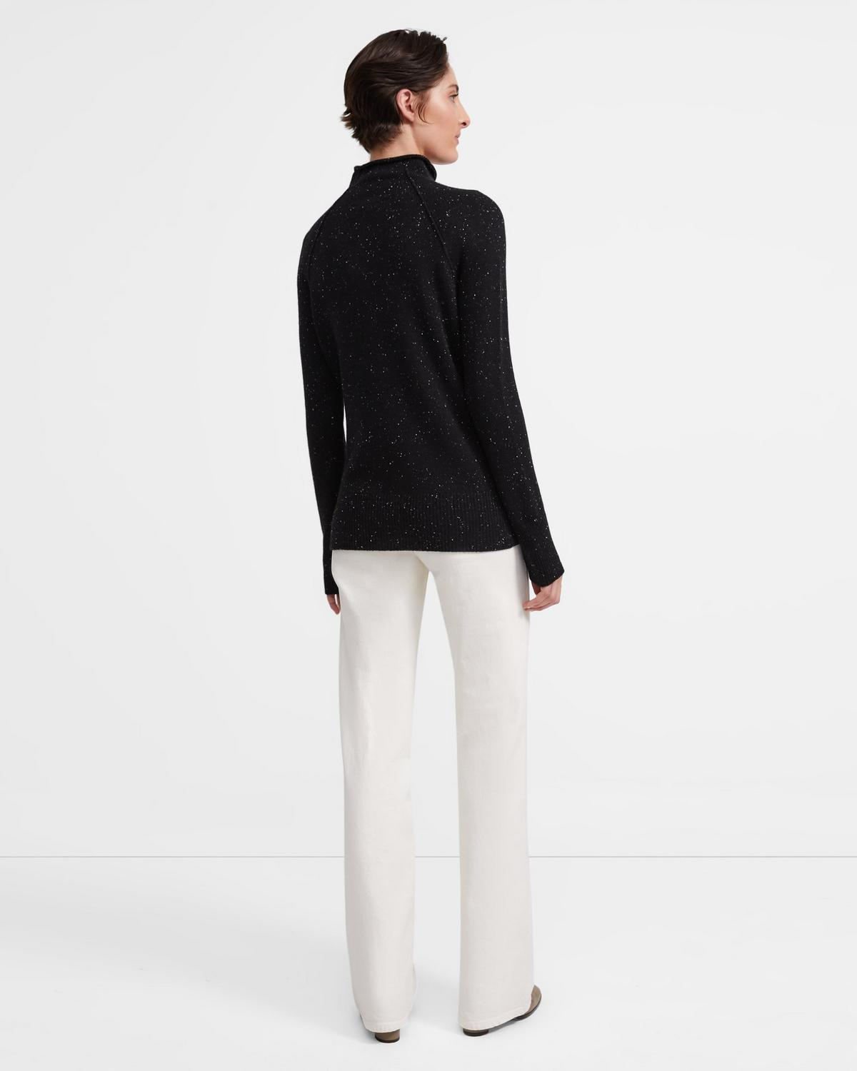 Donegal Cashmere Mock Sweater
