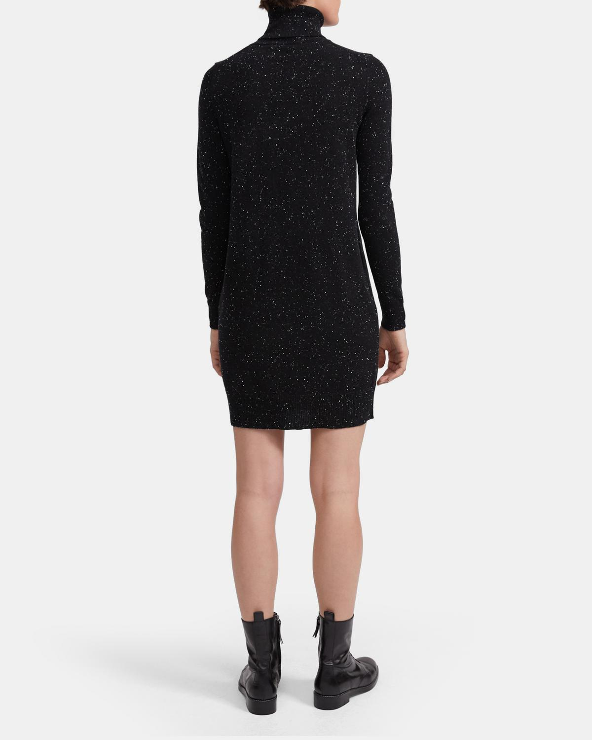 Turtleneck Sweater Dress in Donegal Cashmere