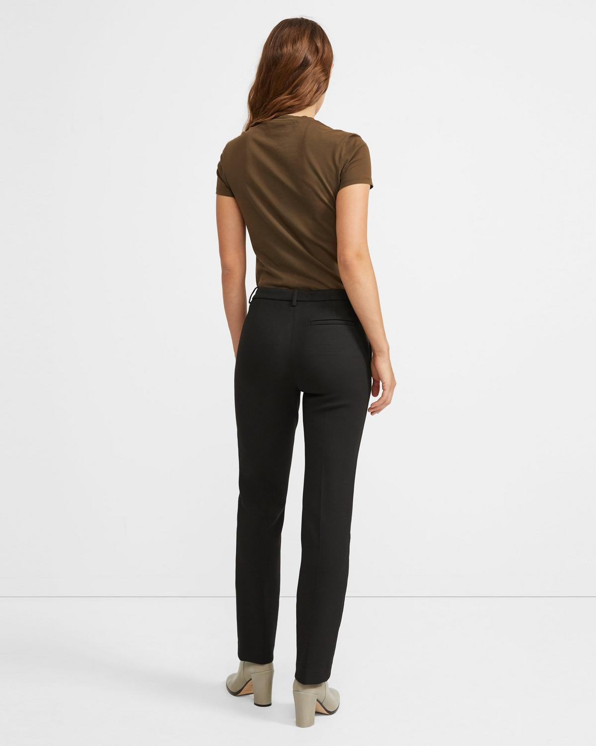 Treeca Full Length Pant in Double Knit Jersey