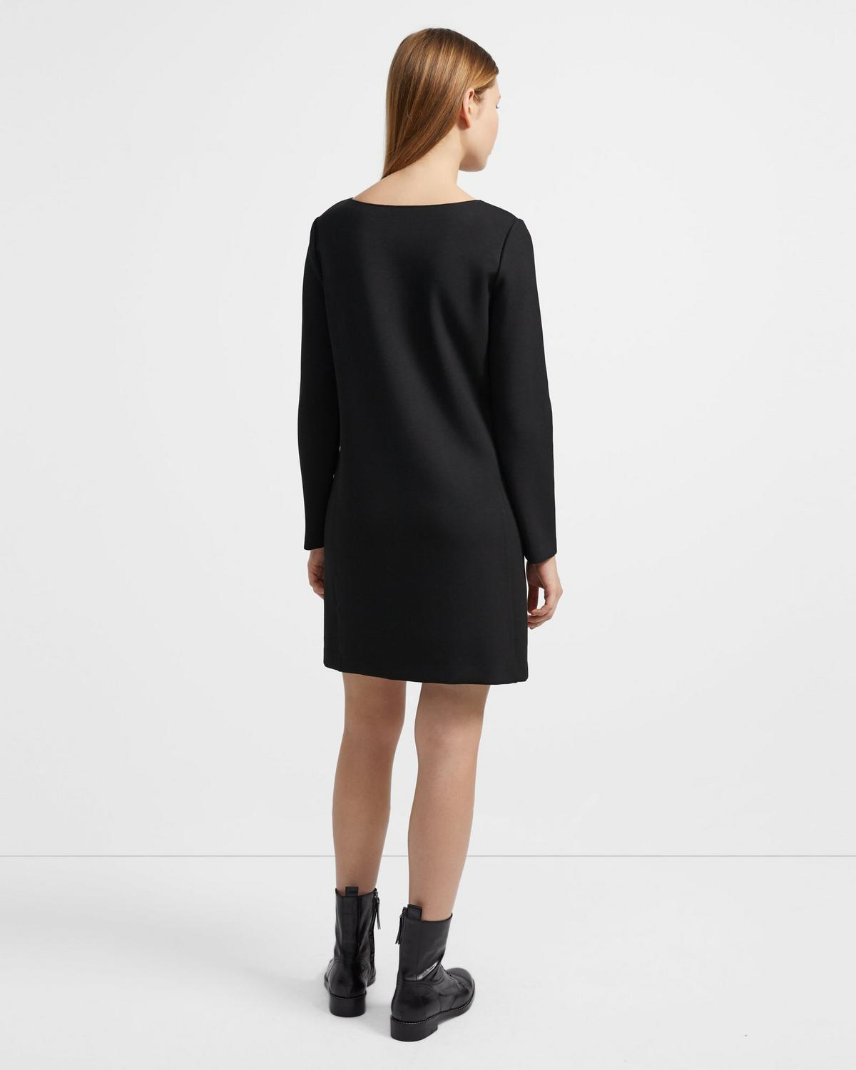 Boatneck Dress in Double Knit Jersey