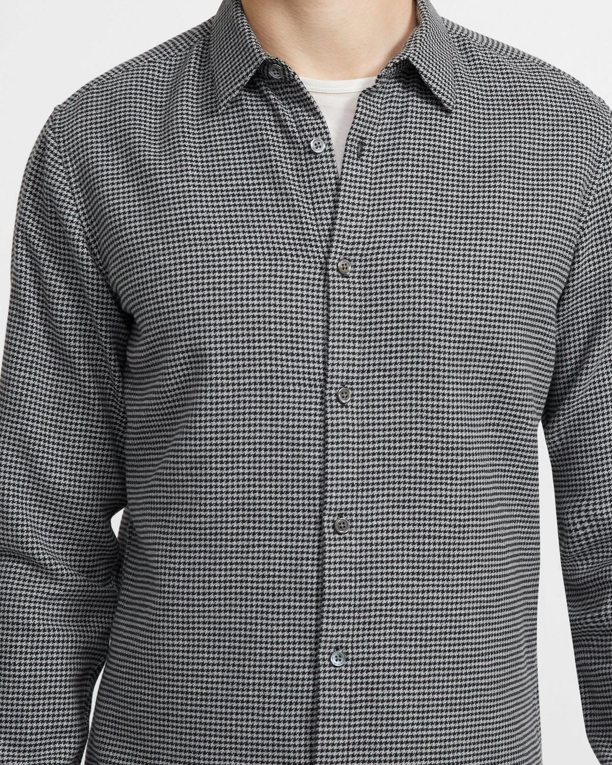 Irving Shirt in Houndstooth Cotton Flannel