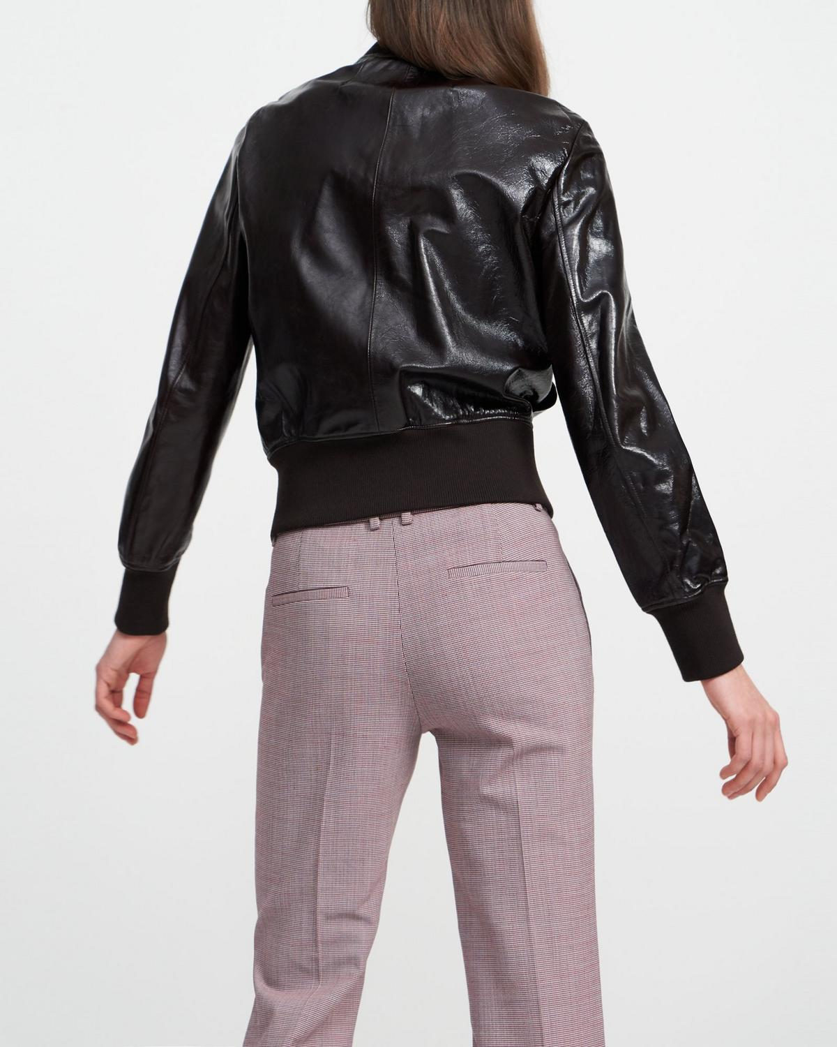 Aviator Jacket in Crushed Patent Leather
