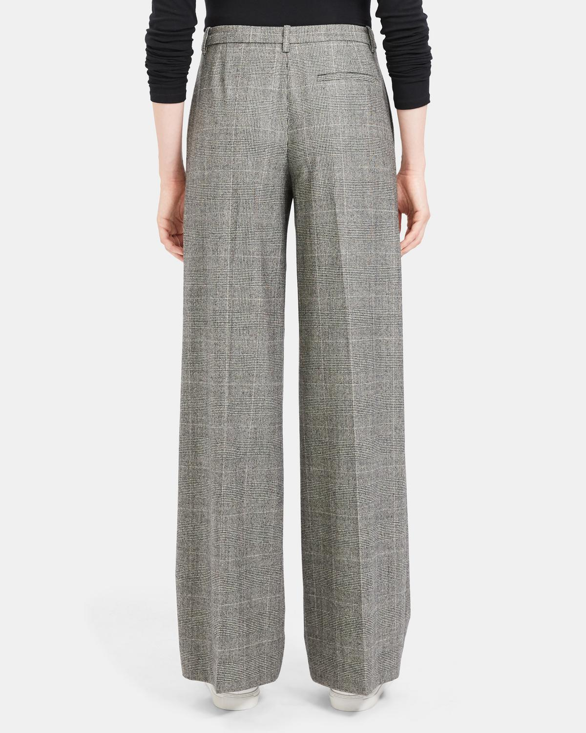 Wide Trouser in Wales Flannel