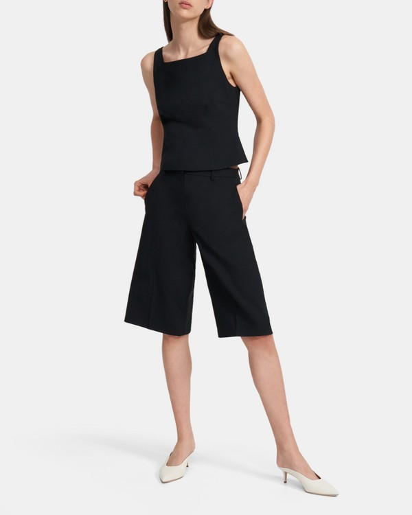 띠어리 Theory Culotte in Good Wool,BLACK
