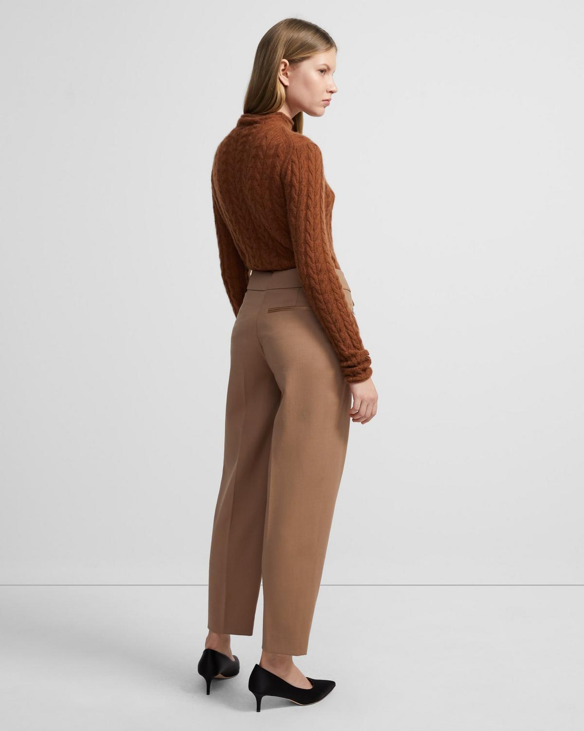 Carrot Pant in Stretch Wool