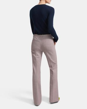 Demitria Pant in Stretch Houndstooth
