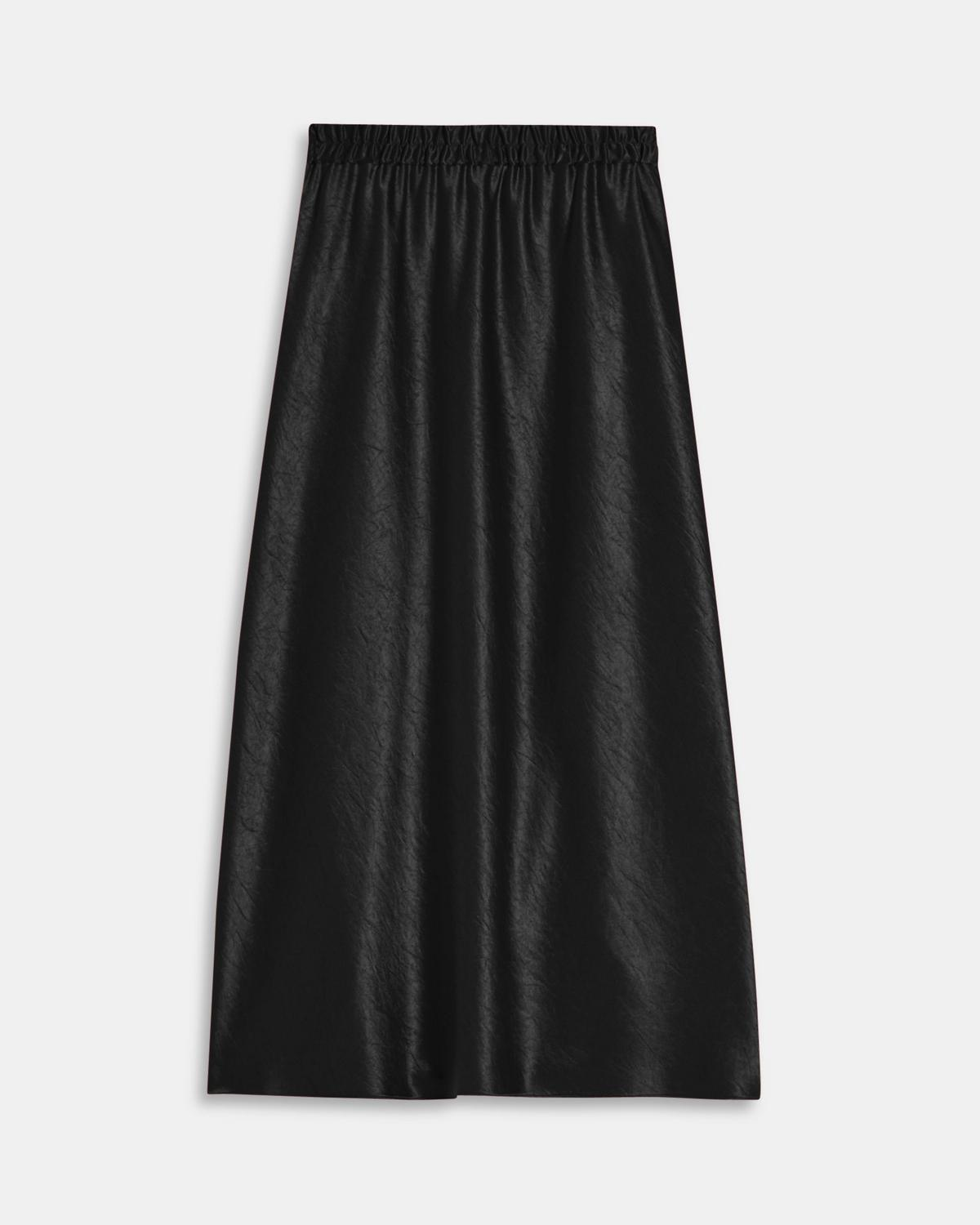 Easy Pull-On Skirt in Double Sateen