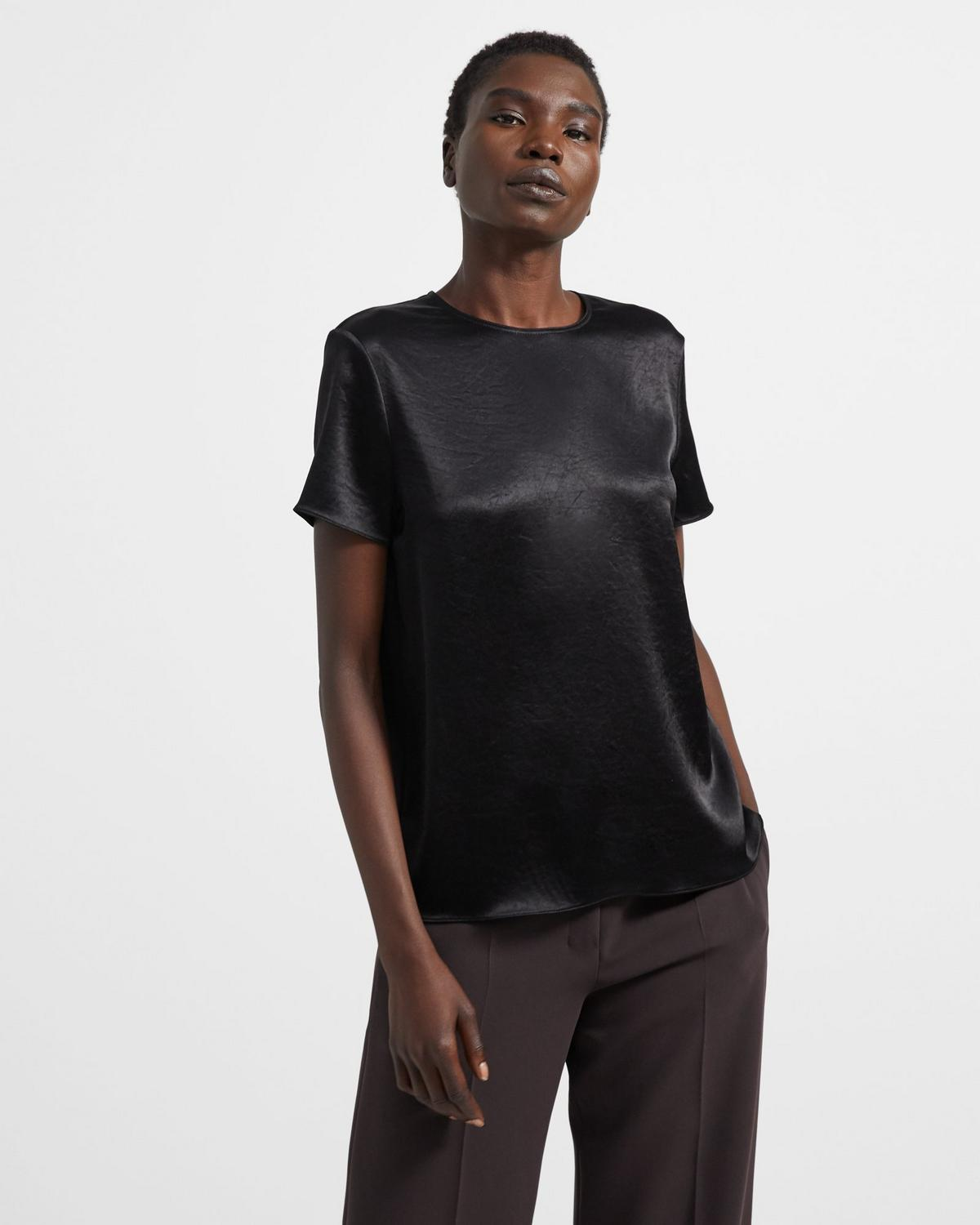 Woven Tee in Double Sateen
