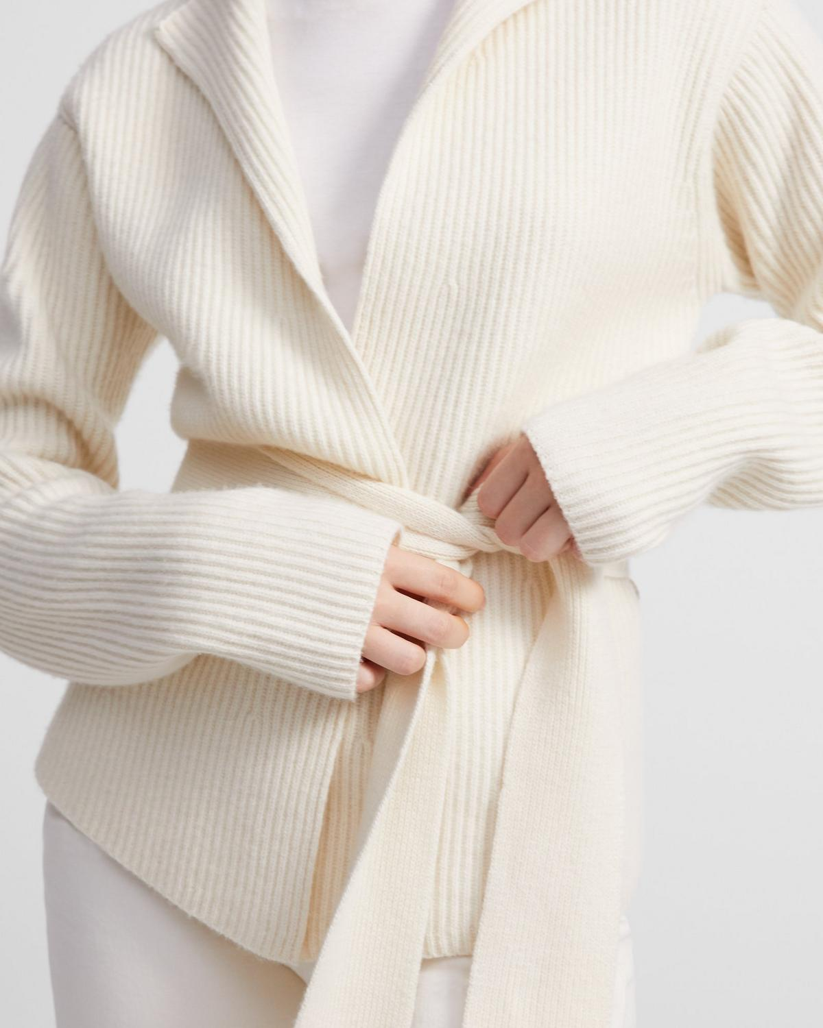 Felted Wool-Cashmere Jacket with Belt 0 - click to view larger image