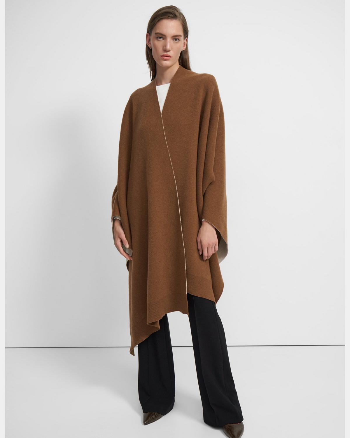Poncho in Wool-Cashmere