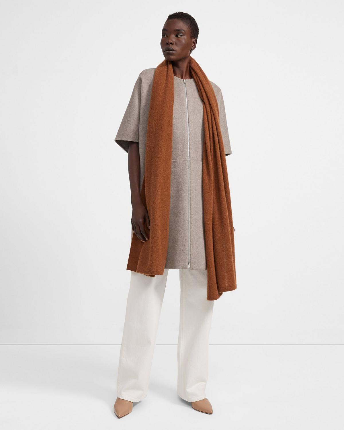 Blanket Scarf in Cashmere 0 - click to view larger image