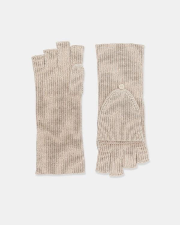 띠어리 핑거리스 장갑 Theory Fold Back Gloves in Cashmere