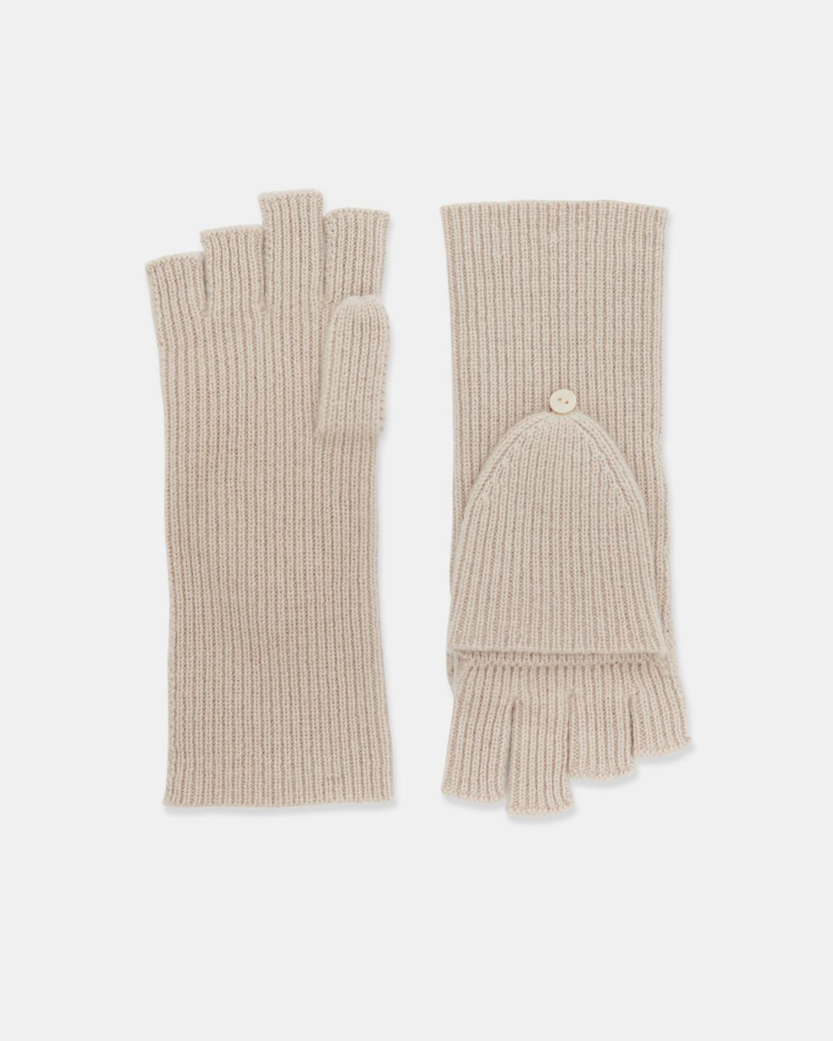Fold Back Gloves in Cashmere