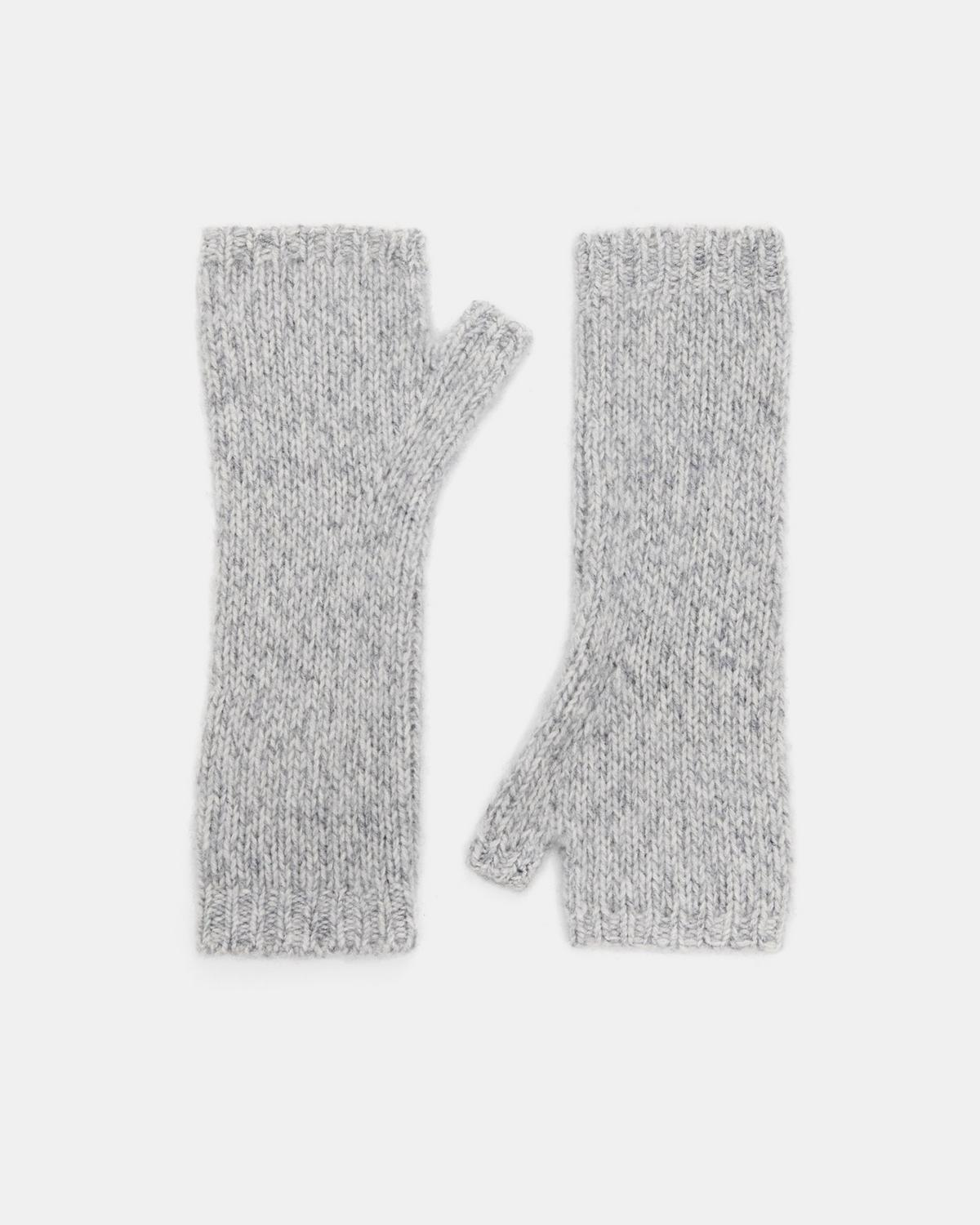 Marled Cashmere Cut Off Gloves