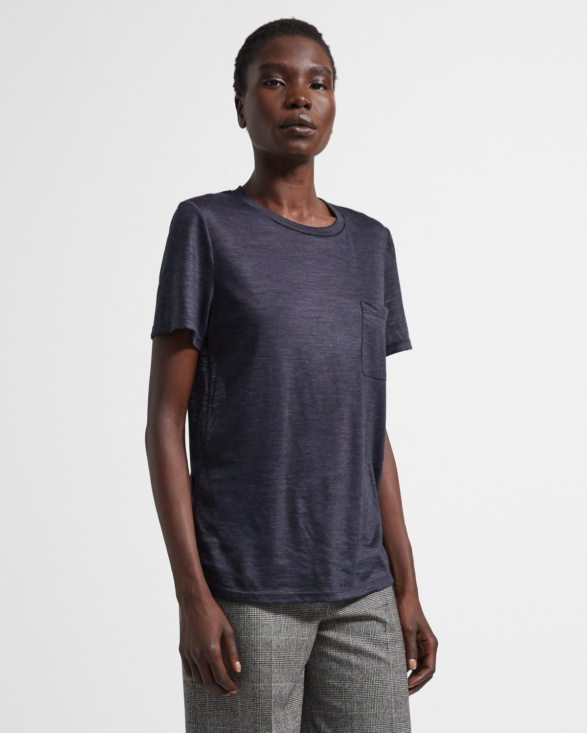 Easy Pocket Tee in Wool Jersey 0 - click to view larger image